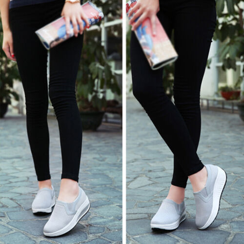 Women's Sneakers Platform Wedge Sports Shoes for Woman Fitne