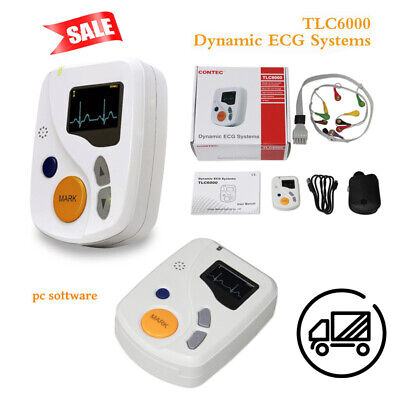 Contec Tlc6000 Dynamic 48hours 12 Lead Ecgekg Holter Monitor Alalyzer Software