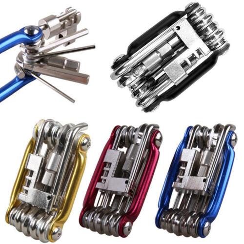 11 in 1 Multi Bicycle Bike Allen Hex Keys Screwdriver Chain Link Tool MTB ROAD