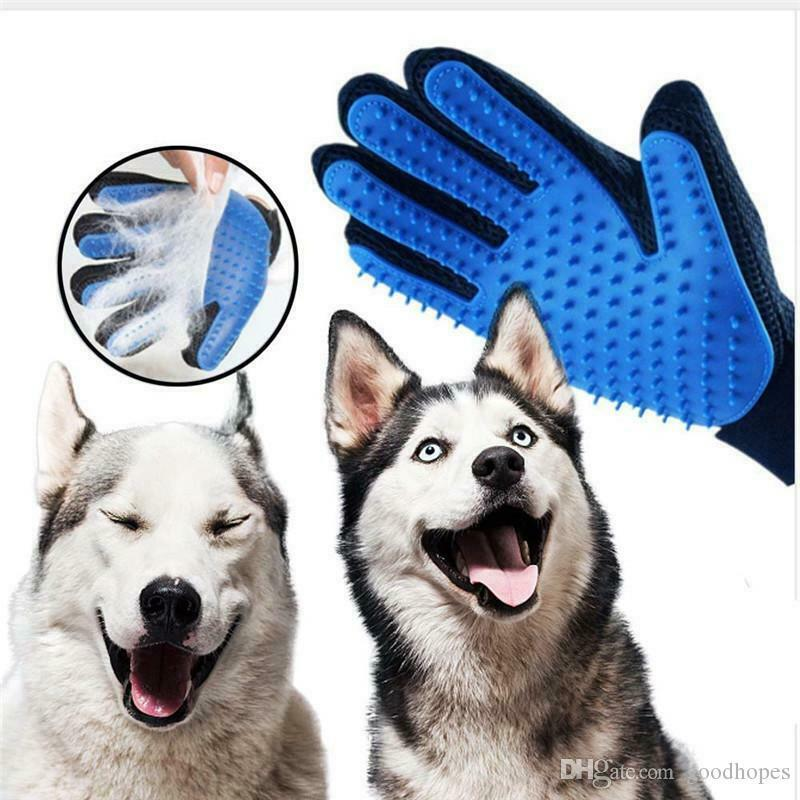 DOG PET GLOVES *UPGRADED* ~ USA Fast Ship ~ Massage Cats Grooming Brush Fur Toy Brushes, Combs & Rakes