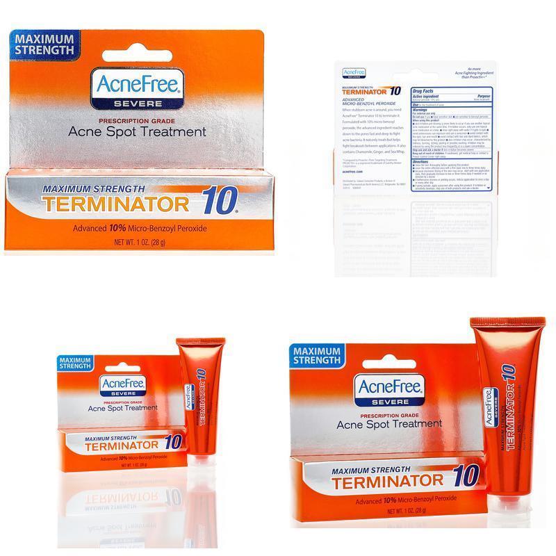AcneFree Terminator 10 Acne Spot Treatment with Benzoyl Pero