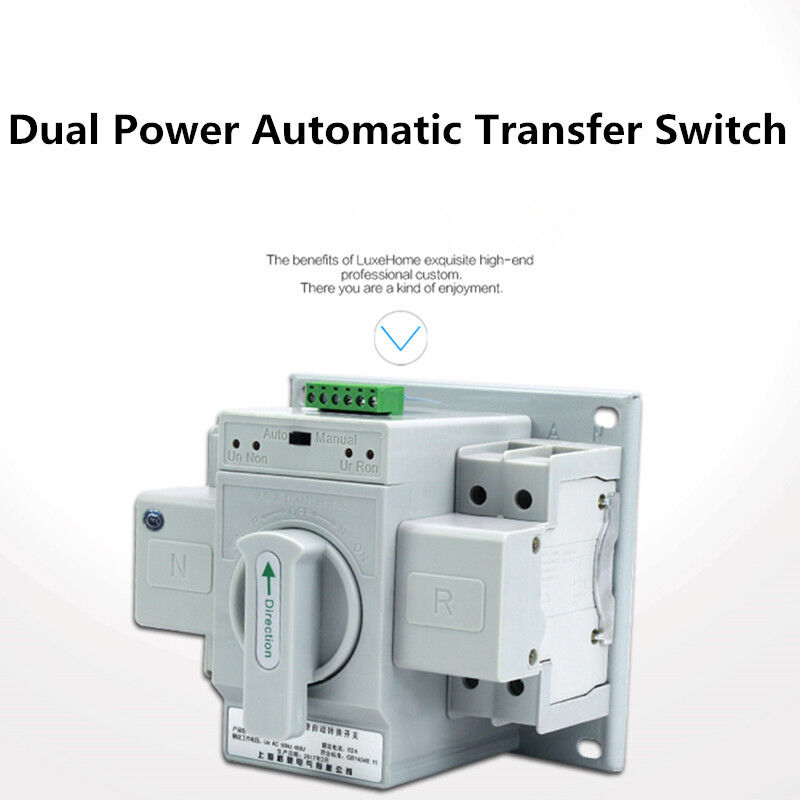 Home Dual Power Automatic Transfer Switch 2P 63A 220V Toggle Switch