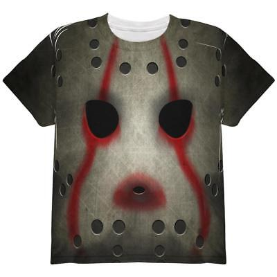 All Halloween Movie Masks (Halloween Horror Movie Hockey Mask Costume All Over Youth T)