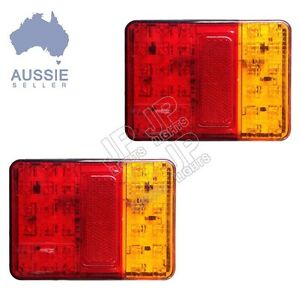 LED-TAIL-LIGHT-TRAILER-TRUCK-CARAVAN-90MM-X120MM-MULTIVOLT-12-24V-PAIR
