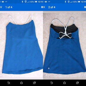 Lululemon Dancing Warrior Tank Poseidon Dottie Dash size 8