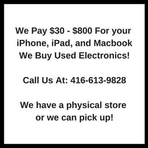 We buy iPhones, iPads, Macbooks for Cash!