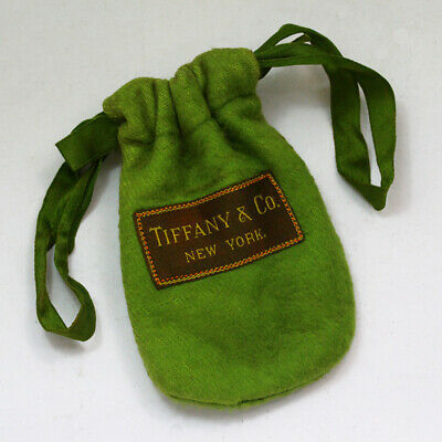 1920s Style Purses, Flapper Bags, Handbags Antique 1920's Tiffany & Co. Green Anti Tarnish Storage Bag / Pouch $55.00 AT vintagedancer.com