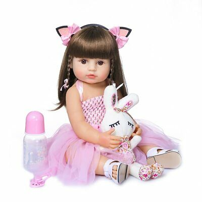 55cm Reborn Baby Dolls Cute Soft Handmade Realistic Newborn Silicone
