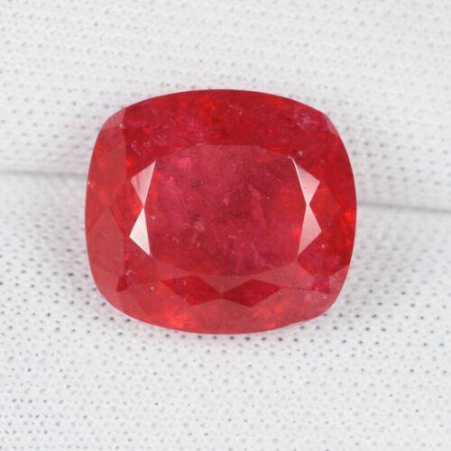 7.74 ct BEST GRADE VIVID  RED - NATURAL RHODONITE  Cushion - See Vdo # LG  8910C