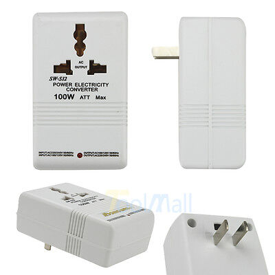 New 110V to 220V STEP Up/Down VOLTAGE CONVERTER 100W Watt TRANSFORMER TRAVEL US