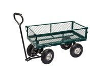 DRAPER 58552 GMC STEEL MESH GARDEN CART QUAD TROLLEY LEAF COLLECTOR