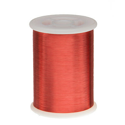 "42 AWG Gauge Enameled Copper Magnet Wire 1.0 lbs 51313' Length 0.0026"" 155C Red"