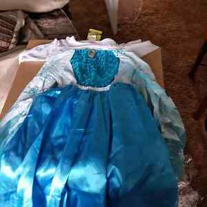 Brand new girls size 4 Elsa dress and accessories Peterborough Peterborough Area image 2