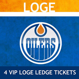 4 Loge Ledge VIP Oilers Seats for Upcoming Games