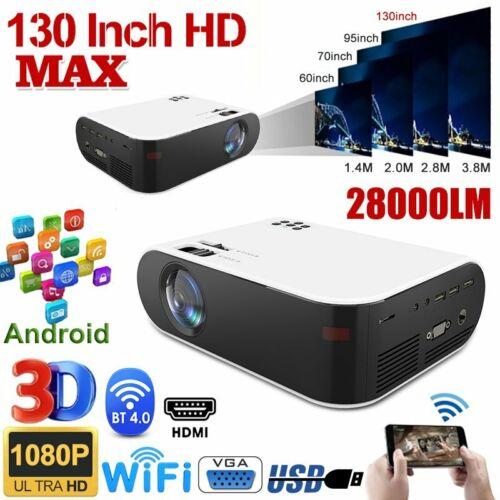 28000LM 4K 1080P HD WiFi 3D LED Bluetooth Video Theatre Proj