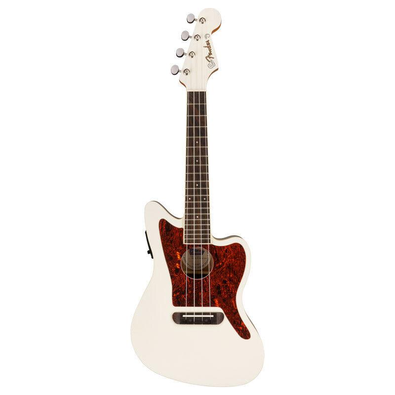 Fender Fullerton Jazzmaster Ukulele, Olympic White (NEW)