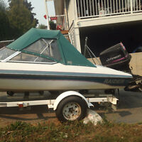 16.5 foot Raider 130 hp outboard
