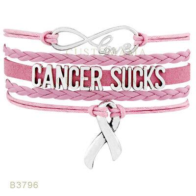 Breast Cancer Sucks Love Pink Bracelet NEW USA SELLER - Cancer Sucks Bracelets