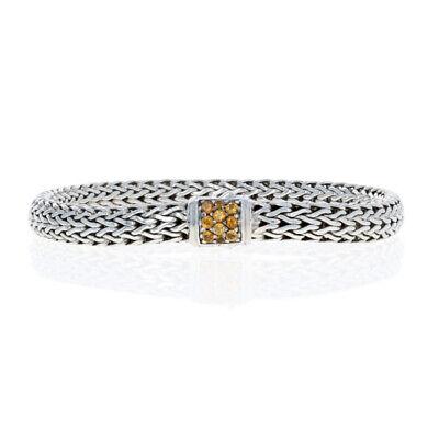 "NEW John Hardy Classic Chain Lava Citrine Bracelet Sterling Silver 7"" 925"