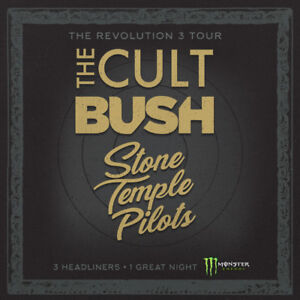 2 Tickets The Cult, Bush, Stone Temple Pilots THIS WEDNESDAY!