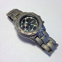 Men's Fossil solid-titanium chronograph watch