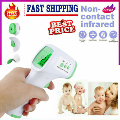 Non-contact Digital Infrared Forehead Thermometer Lcd Display Ir Usa Stock