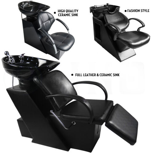 Backwash Barber Shampoo Chair Bowl Sink Unit Station Salo...
