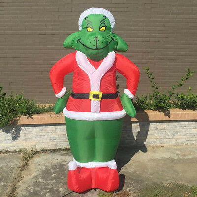 Inflatable Grinch 7 Feet Christmas Decoration For Outdoor Grinch Blow Up Family