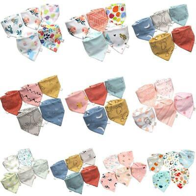 5 Pcs/Pack Baby Feeding Bibs Infant Scarf Towel Bandana Saliva Triangle Dribble