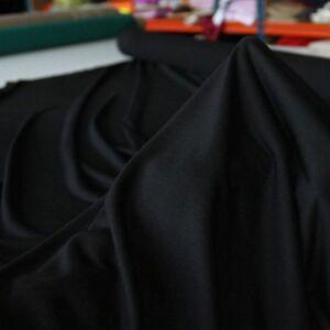 schwarz feiner T-Shirt-JERSEY Stoff aus Baumwolle fließend weiche Meterware
