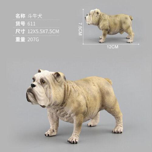 Simulation Animal Mini Shar Pei Dog Bulldog Decoration Model Plastic Toy