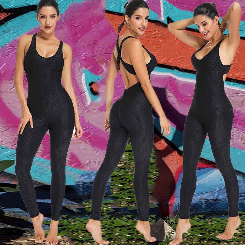 2019 Women Jumpsuit Rompers Suit Workout Bodysuit For Sport