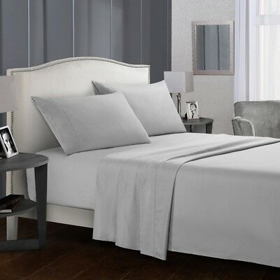 Full Size Bed Sheet Set Brushed Microfiber Sheets Bedding 3/4 Piece  Pillow Case