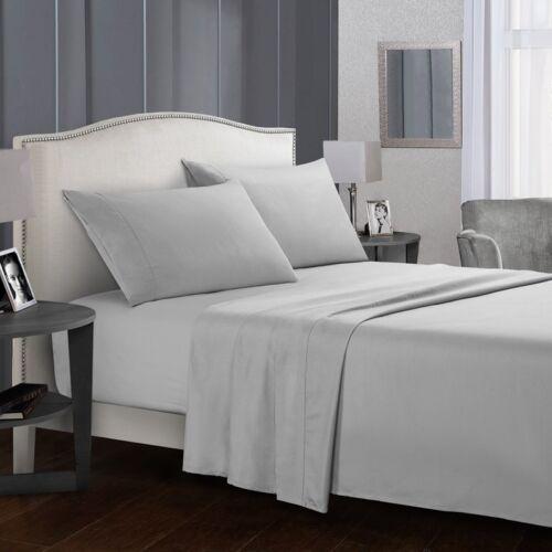 Full Size Bed Sheet Set Brushed Microfiber Sheets Bedding 3/