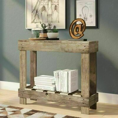 Entry Table Rustic Farmhouse Console Narrow Small Space Saving Chic Handmade USA