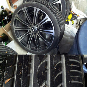 Summer tires and rims for bmw 3 series 1 Oakville / Halton Region Toronto (GTA) image 2