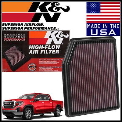 K&N Replacement Air Filter NEW BODY 2019 GMC Sierra 1500 2.7L 4.3L / 5.3L / 6.2L ()