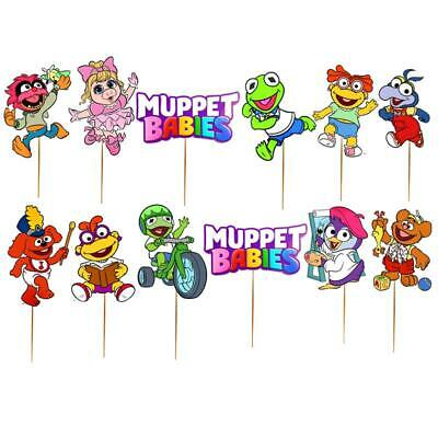 MUPPET BABIES BABY CUPCAKE TOPPERS Party Supplies BALLOON CAKE TOPPER SHOWER BOY