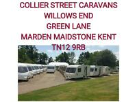 2,4,5 ,6 berth, fixed beds and twin axle caravans available
