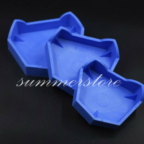 6 Pcs/Set Dental  Model Blue Silicone Former Base Molds Mould Tray with Notches