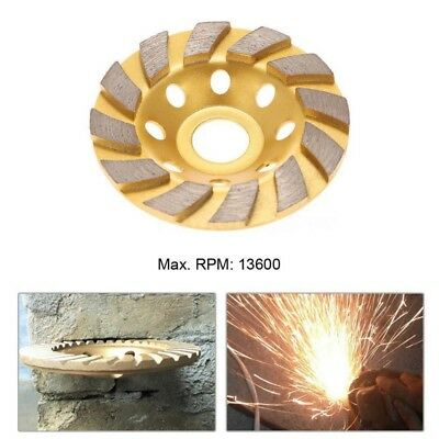 100mm 4 Diamond Grinding Cup Wheel Disc Grinder Concrete Granite Stone Turbo