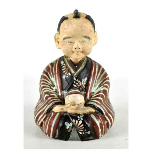 Antique Kokeshi Clay Japanese Nodder Bobblehead Pottery Doll