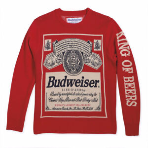 Budweiser Label Red Vintage Sweater - 100% Brand New, Never Worn