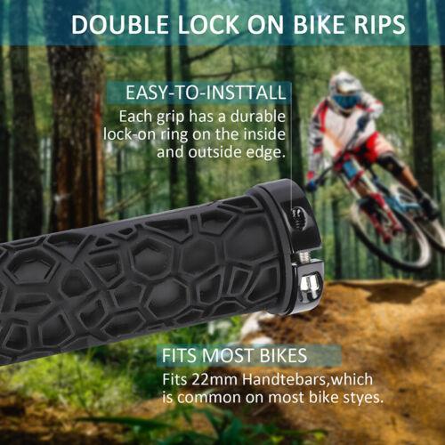 1Pair Mountain Bicycle Lock On Handlebar Grips Cycling MTB//BMX Bar Ends Durable