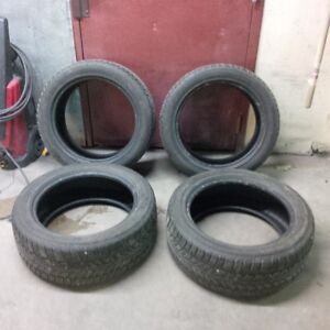 Set of four 225/50 R17 used Nokian WR All Weather tires
