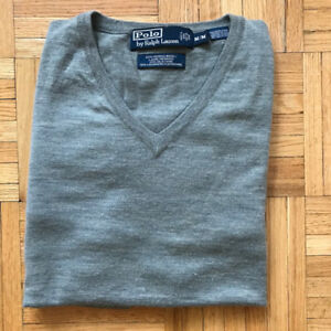 Polo Ralph Lauren Men's V-neck Merino Wool Sweater | Sz: Medium