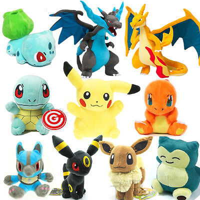 Hot Rare Pokemon go pikachu Plush Doll Soft Toys Stuffed Teddy Kids Gift New