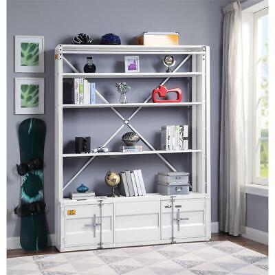 ACME Cargo Bookshelf & Ladder  in White