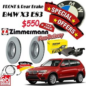 SPECIAL OFFER for Brake Set Package- BMW- X3 E84