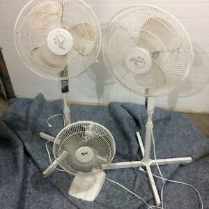 Three oscillating fans for sale